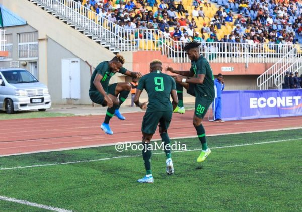 AFCON2021Q: Red-hot Osimhen destroys Lesotho for Nigeria
