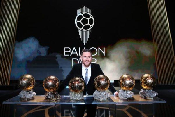 Ballondor2019: Messi beats Mane, Salah to win record sixth award