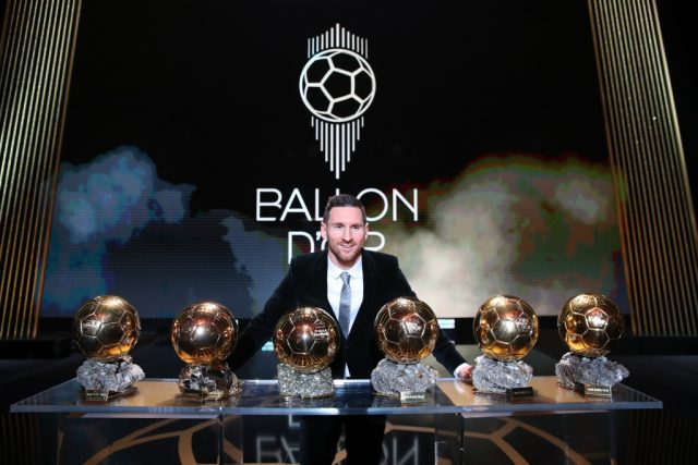 Ballondor2019: Messi beats Mane, Salah to win record sixth award