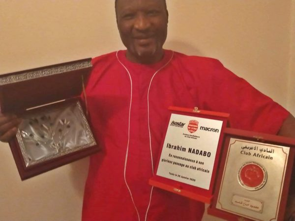 Club Africain Du Tunis honour ex player Ibrahim Nadabo.