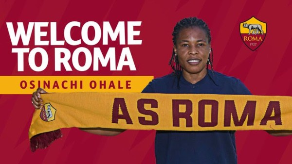 Super Falcons: Ohale targets UCL berth with AS Roma