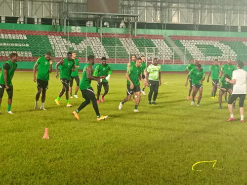 AFCON2021Q: Sunday Dare, Pinnick, train with Super Eagles
