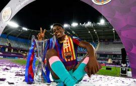 Oshoala makes history with Barcelona Femeni