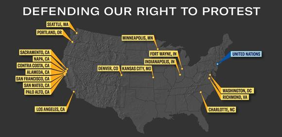 ACLU Map Defending Right to Protest