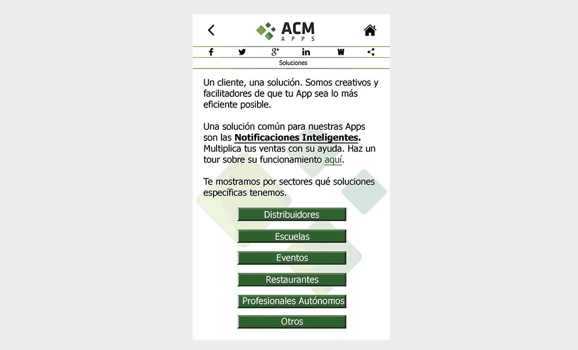 ACM Apps SL - Soluciones