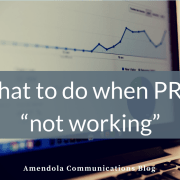 "What to do when PR is ""not working"""