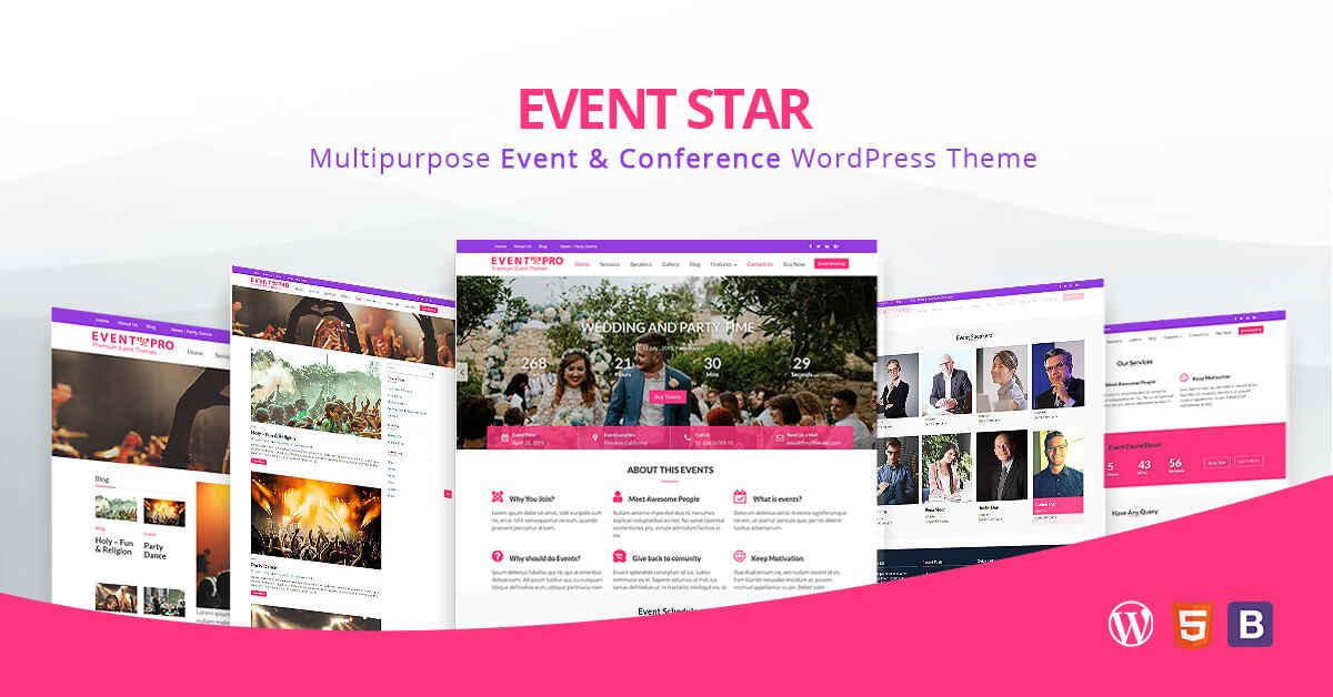 Event Star - Free WordPress Theme for Event & Conference Management
