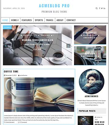 AcmeBlogPro - Premium, Professional Blog, News and Magazine Theme
