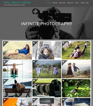 Infinite Photography - Perfect WordPress theme for photography