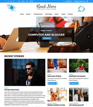 Read More WordPress blog theme
