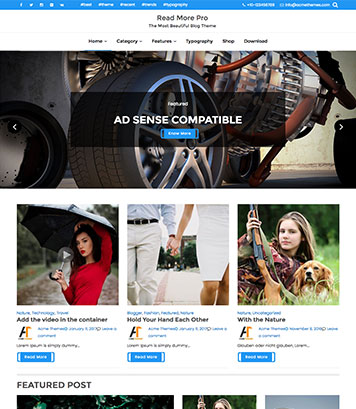 Read More Pro - Premium WordPress Theme, Creative, Beautiful, Flexible