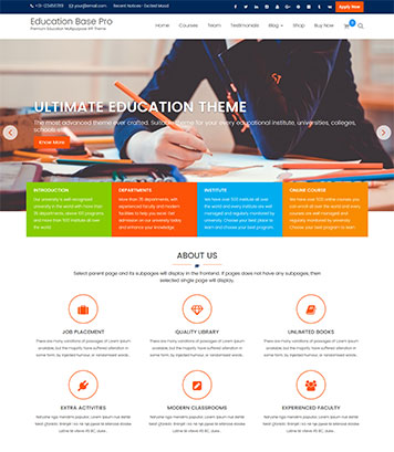 Education Base Pro - A Complete WordPress Education Theme