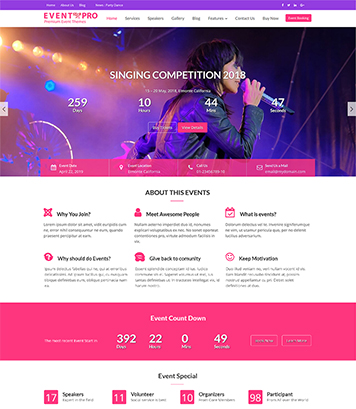 Event Star Pro - Fully Responsive Multi-purpose Event & Conference WordPress Theme