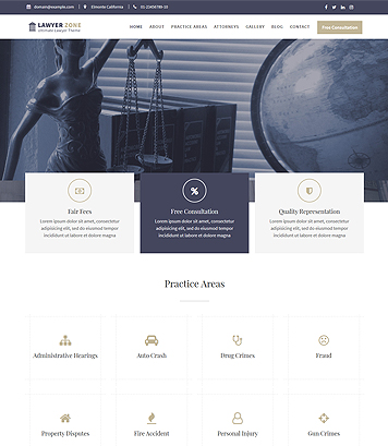 Lawyer Zone - Ultimate WordPress Theme for Lawyer, Law offices and Law firms