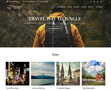 Travel Way Pro -Travel, Tours & Booking Premium WordPress Themes