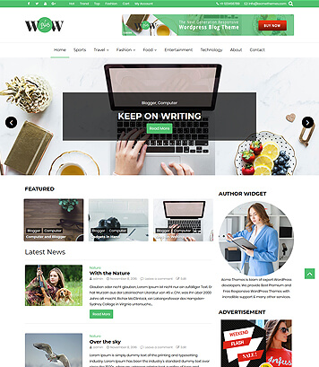 WOW Blog - A lovely WordPress Blog Theme - Acme Themes