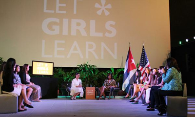 Michelle Obama learns about Cuban education system