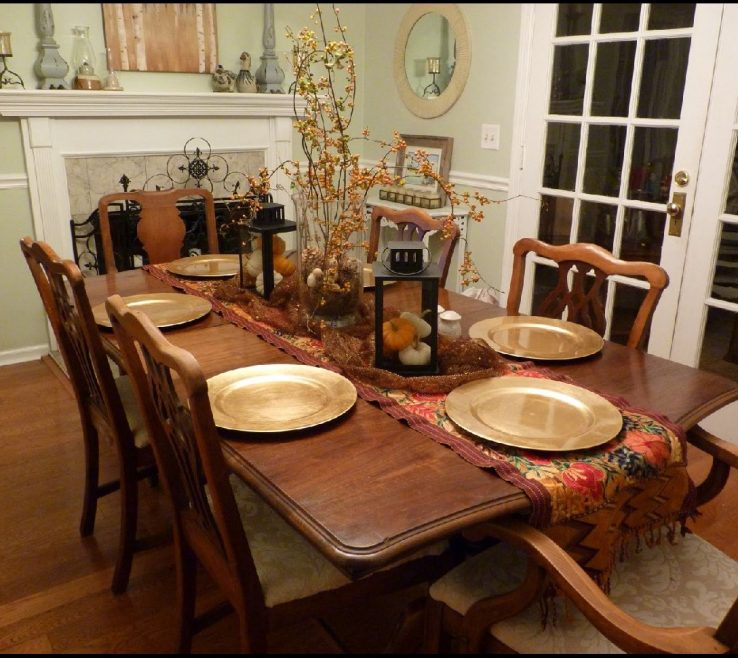 vanity dining table centerpiece ideas