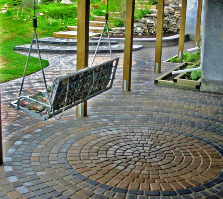 brick designs for patio floor