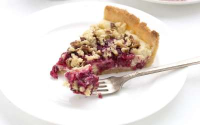 low carb cranberry cheesecake photo