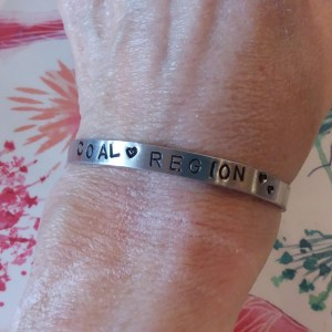 coal region stamped bracelet