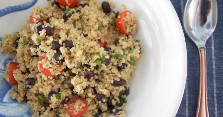Delicious and Super Healthy Zesty Quinoa Salad