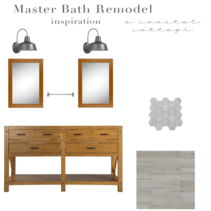 Bathroom Design Board master bathroom remodel inspo – a coastal cottage