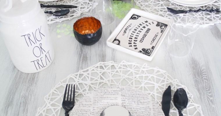 Simple & Easy Halloween Tablescape