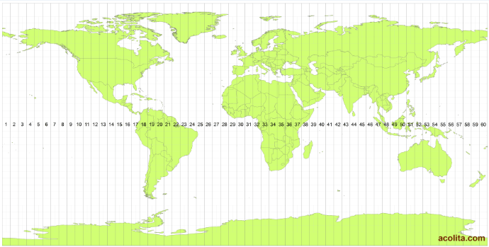 Mapa Zonas UTM