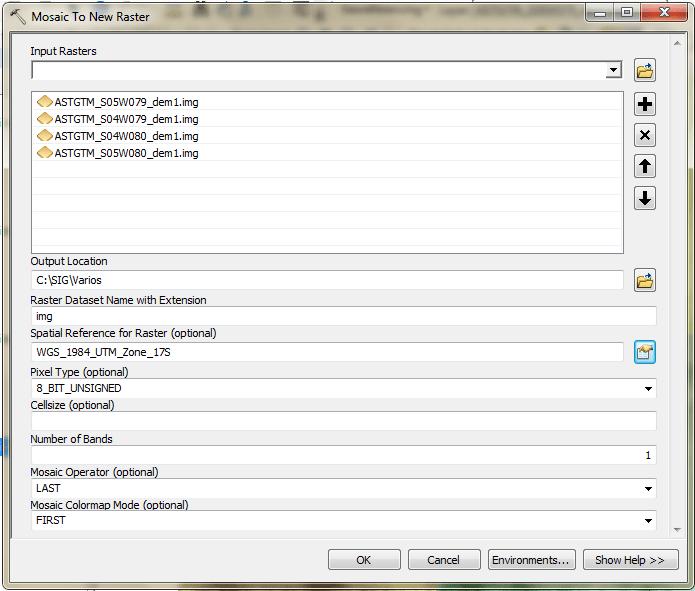 Merge multiple rasters into single one in ArcGIS – GeoGeek