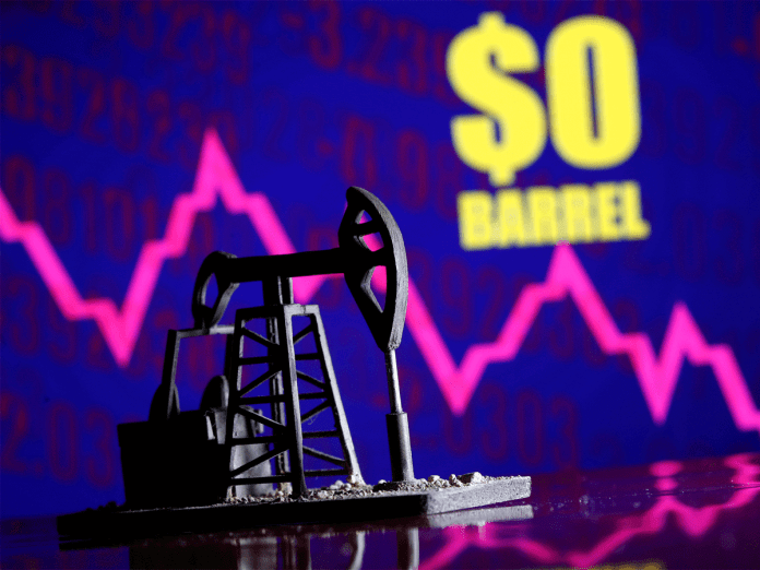 crude oil prices hit zero