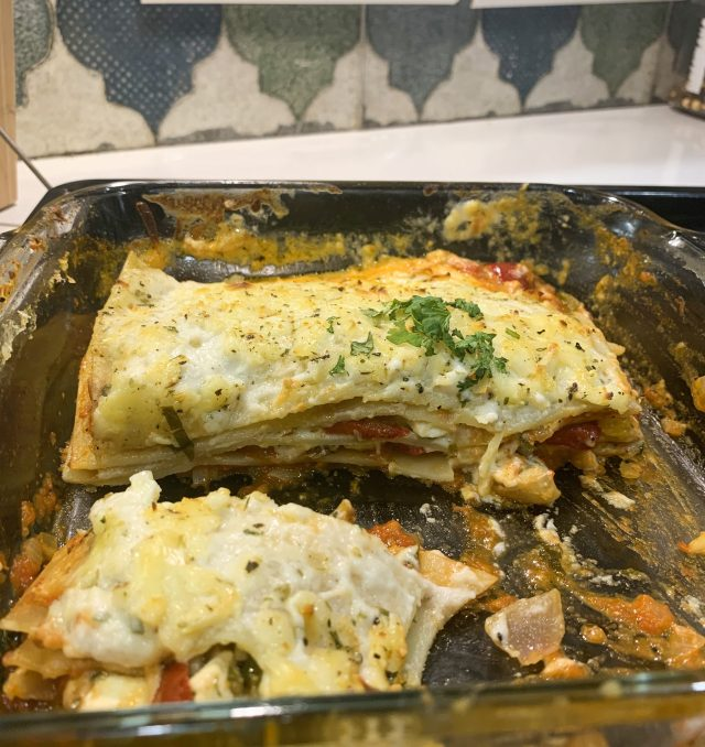FINAL PRODUCT: TEMPTING roasted vegetable LASAGNA