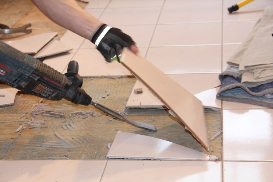 How To Remove A Tile Floor and Underlayment   A Concord Carpenter How To Remove A Tile Floor and Underlayment
