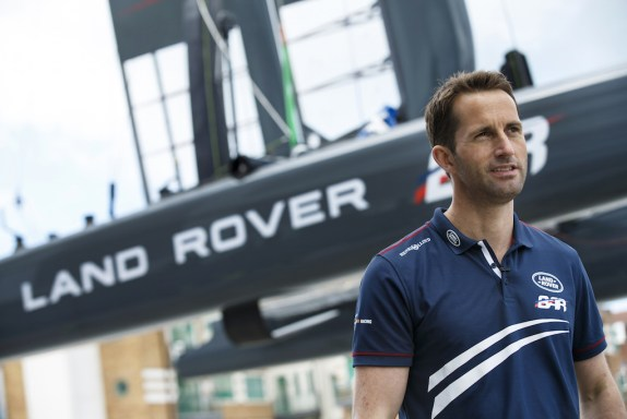 Sir Ben Ainslie at the Portsmouth-based Land Rover BAR HQ