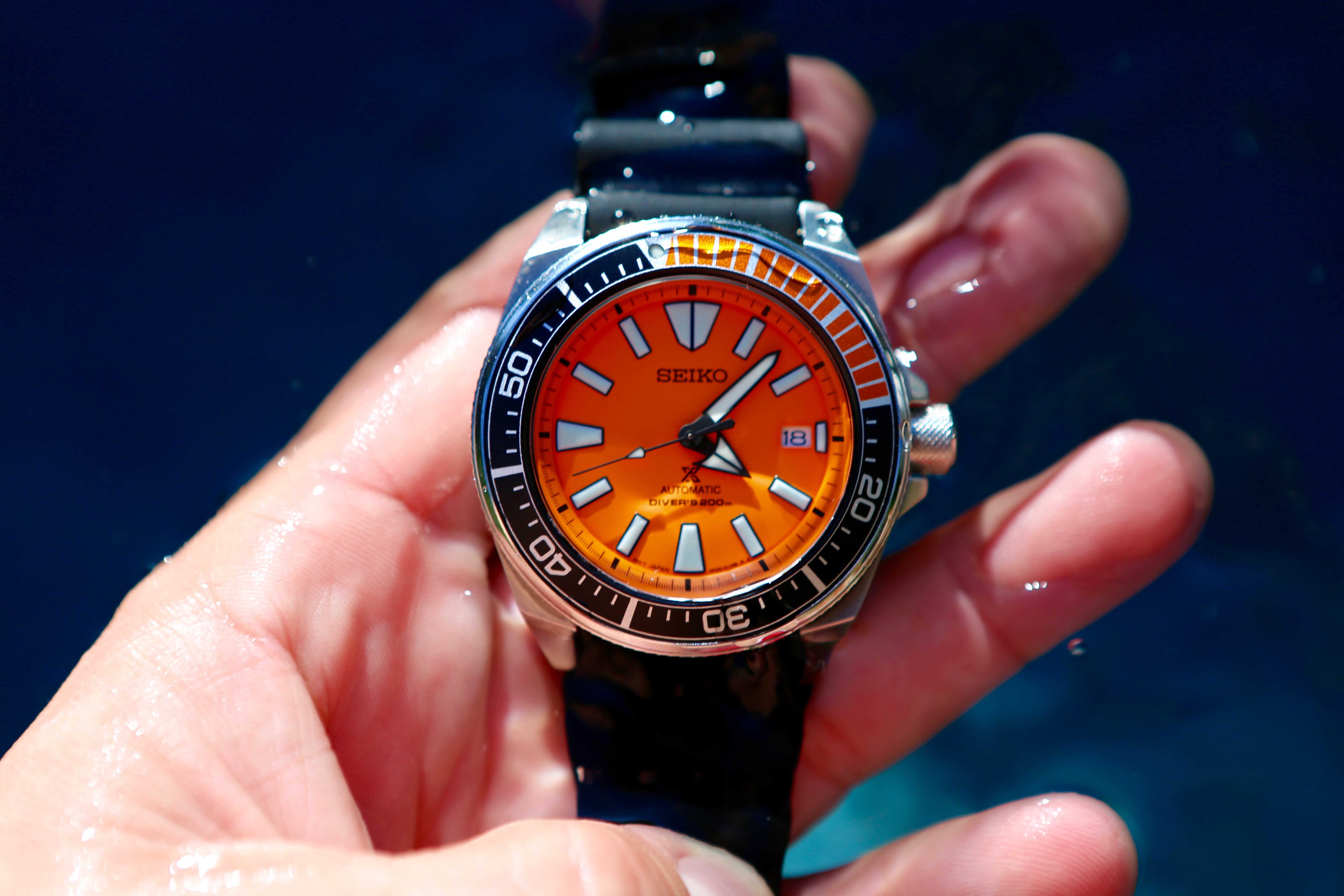Seiko makes waves with a new orange diver a continuous - Orange dive watch ...