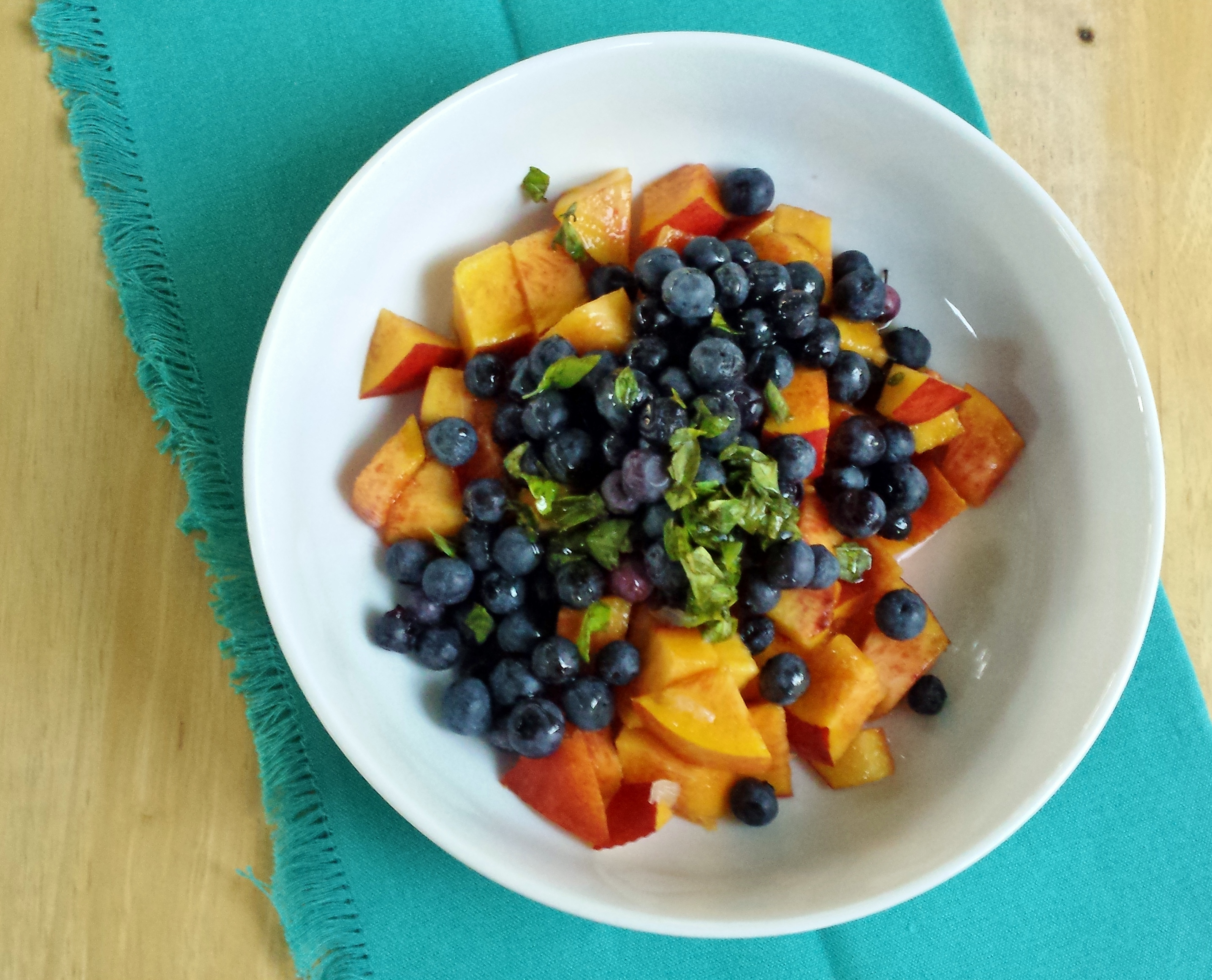 Super-Easy, Totally Un-Blah Fruit Salad #2: Nectarine, Blueberry, and Basil