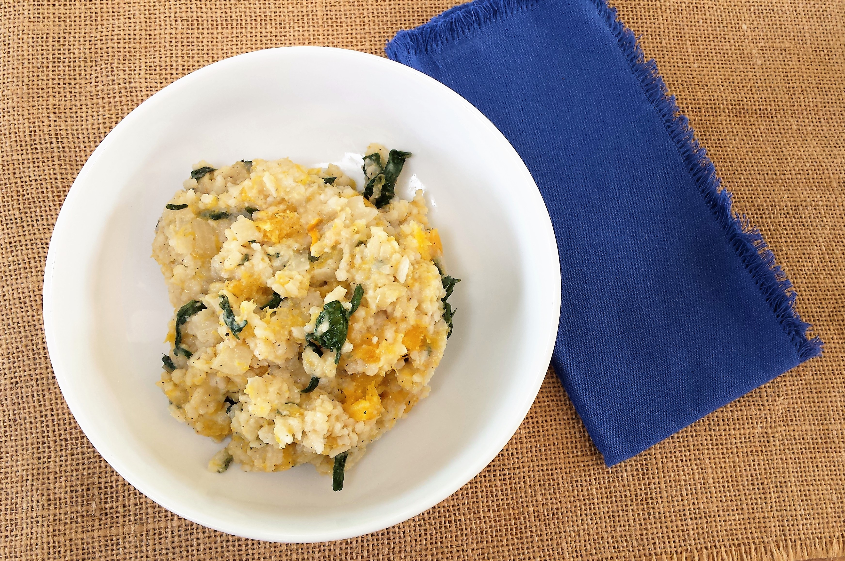Acorn Squash and Spinach Risotto