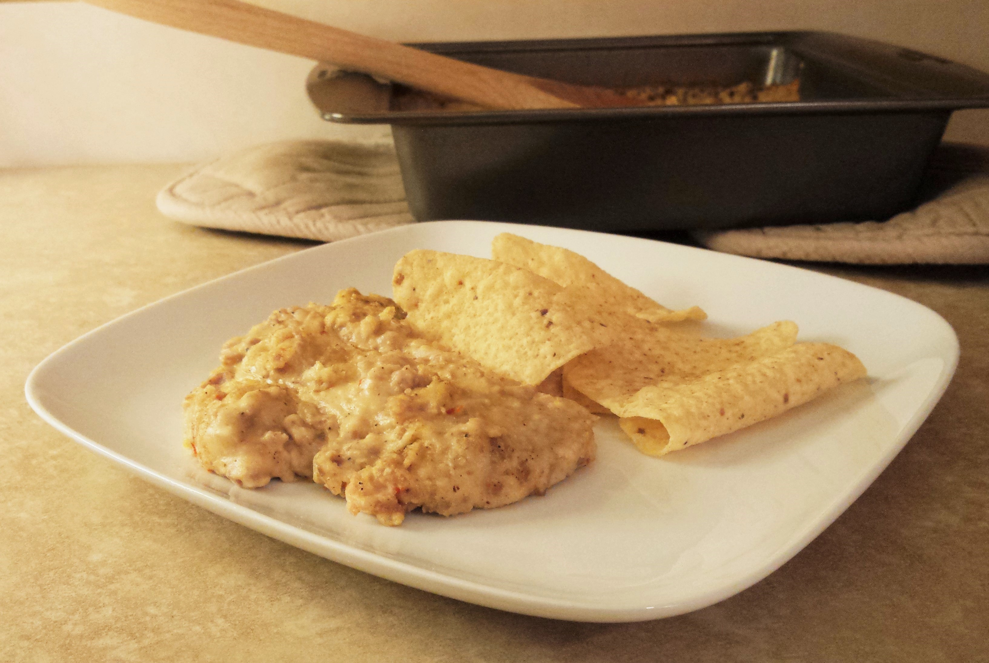 Spicy Cheesy White Bean and Sausage Dip 1