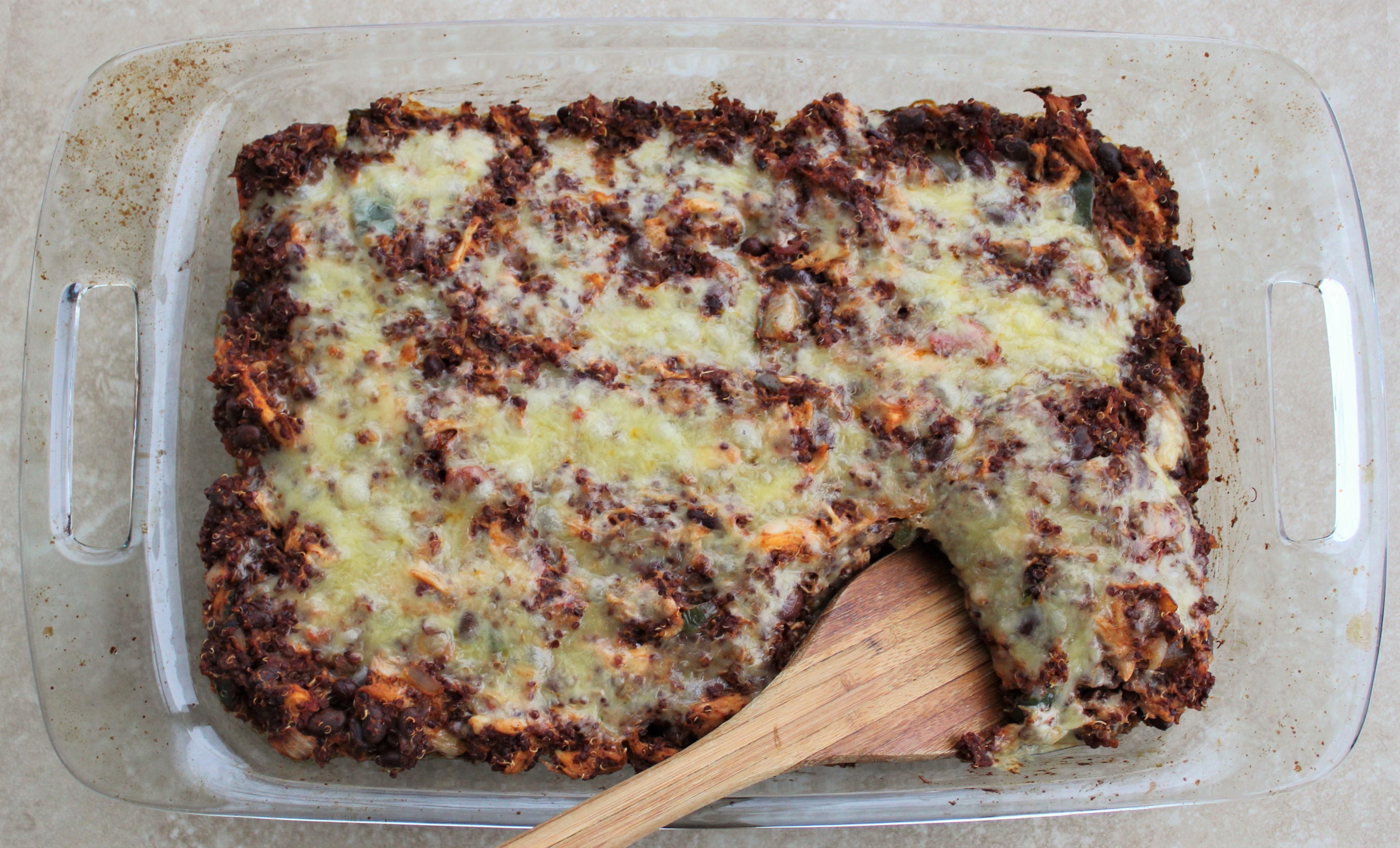 Cheesy Mexican Quinoa Bake 3