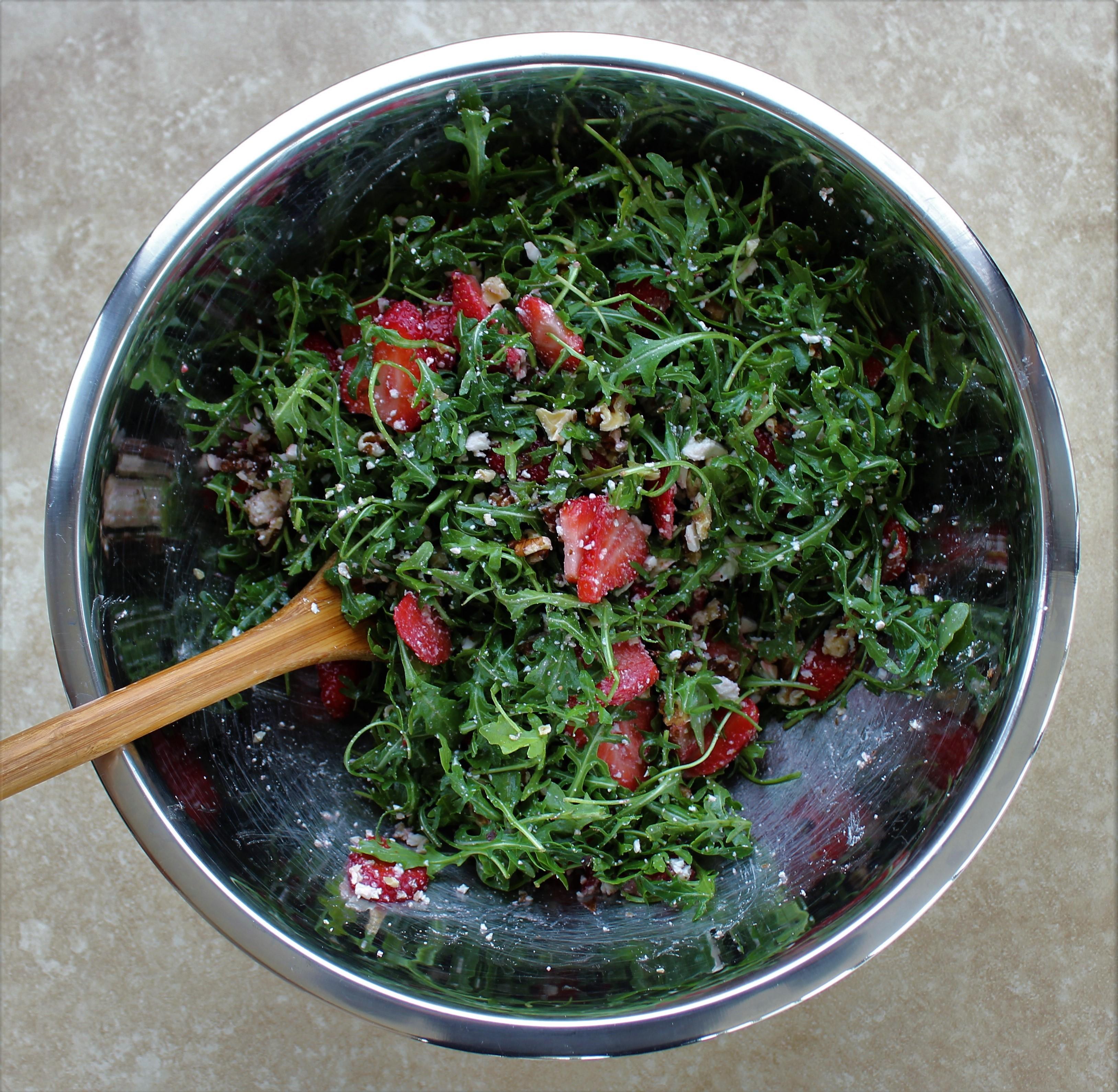 Strawberry Arugula Salad with Blood Orange Vinaigrette 2