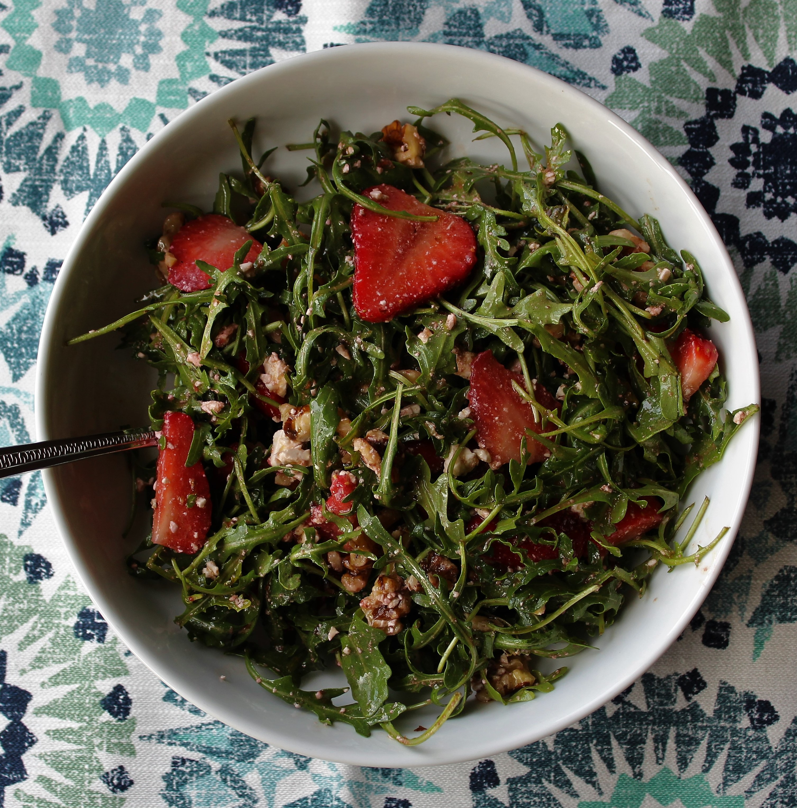Strawberry Arugala Salad with Blood Orange Vinaigrette 1