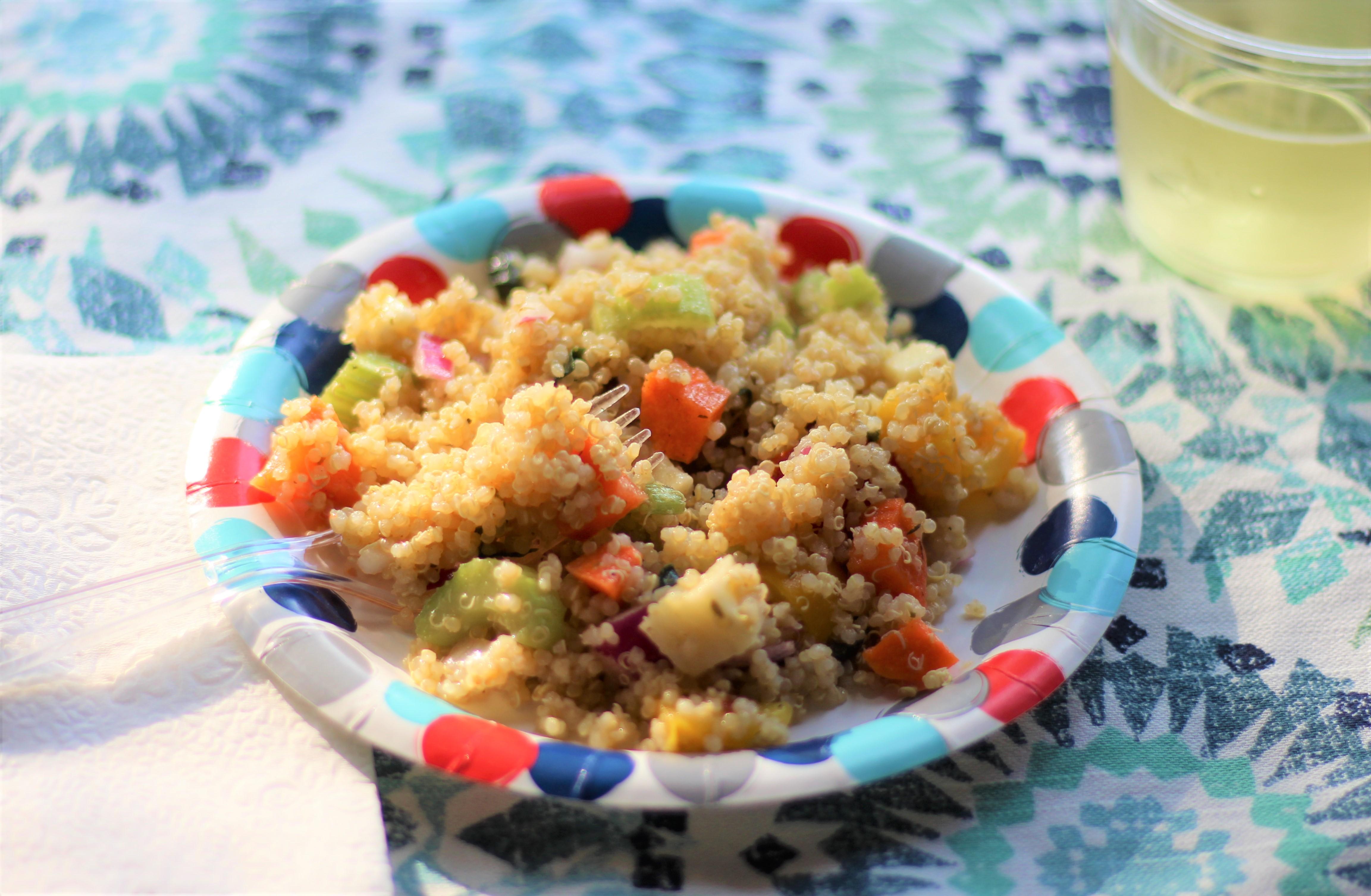 Quinoa Garden Pasta Salad 3