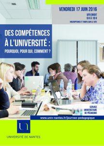 Affiche de la journée d'étude sur la pédagogie universitaire de l'Université de Nantes