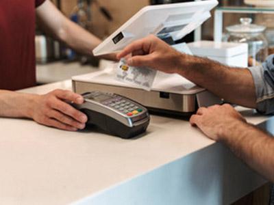 paying at the till