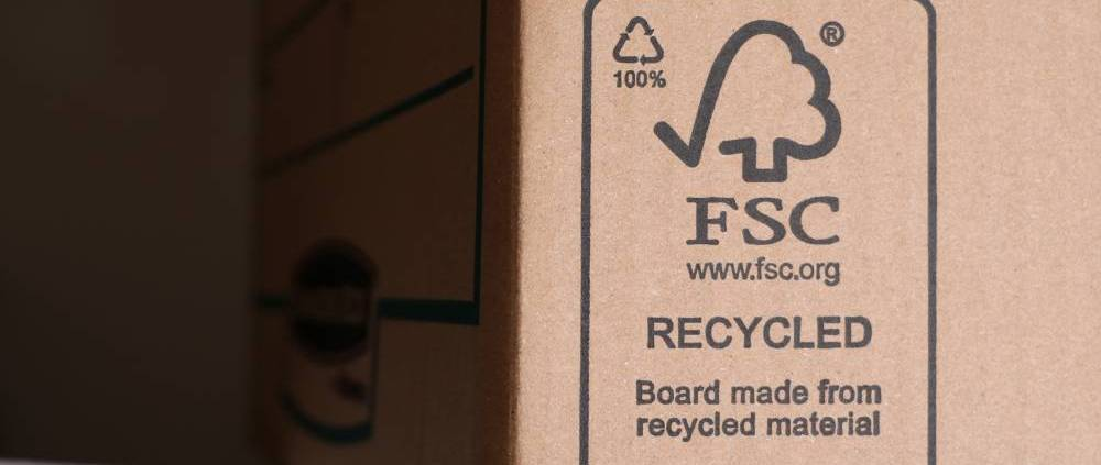 FSC logo on packaging