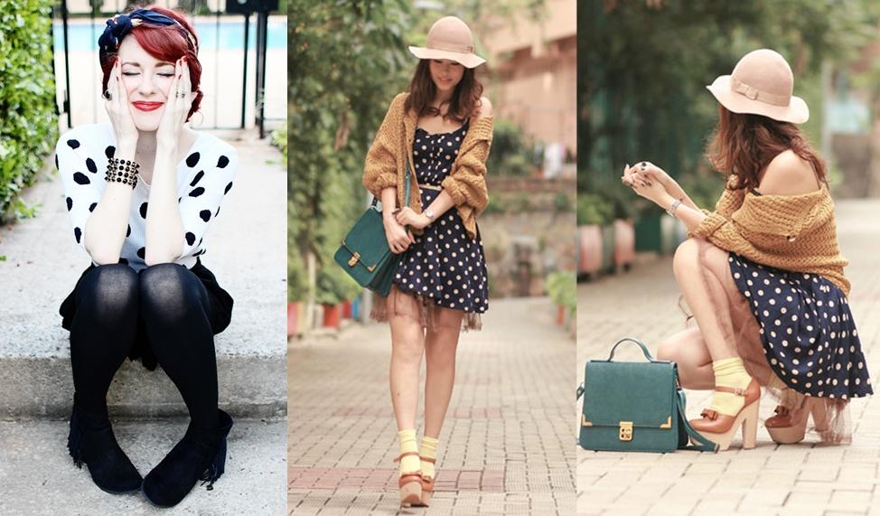 História da Moda Estampa de Bolinhas Poá polka