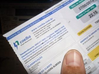 Aneel propõe aumento médio de 15% para contas de luz na Bahia