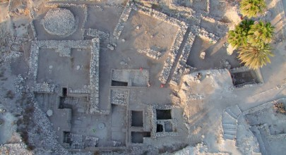 Aerial view of the excavation at Megiddo (2008, Megiddo Expedition)