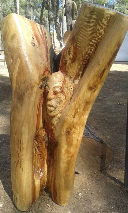 """""""A Memory"""", wood carving by Firas Bqa'in"""