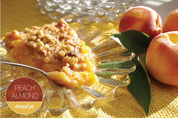 Peach Almond Streusel Pie
